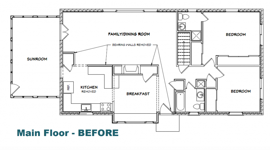 Main Floor Drawing Before Whole House Remodel