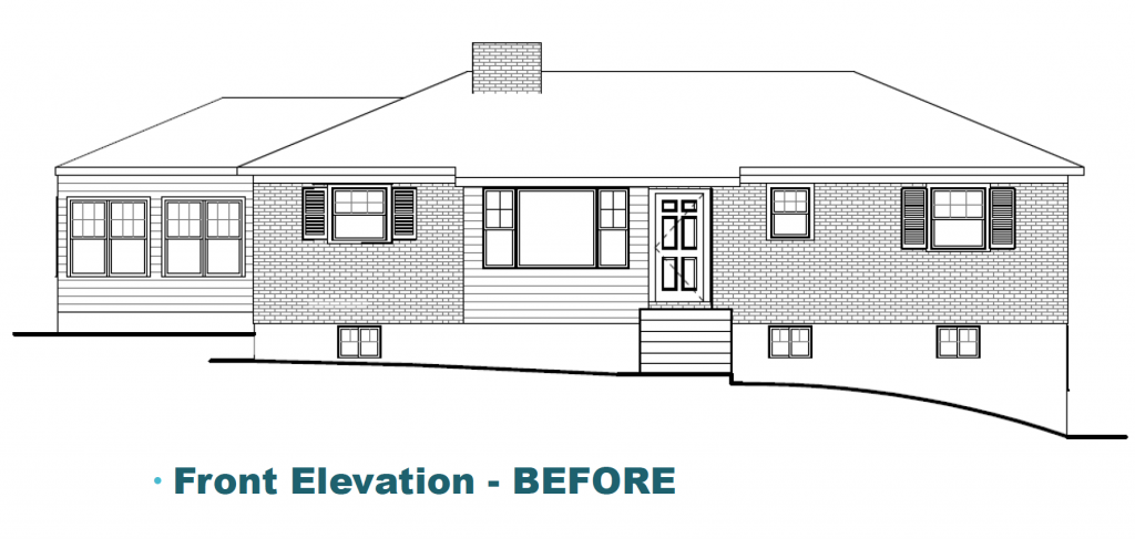 Elevation Before Whole House Remodel