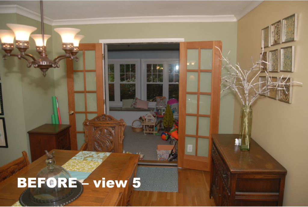 Before Dining Room and Whole House Remodel