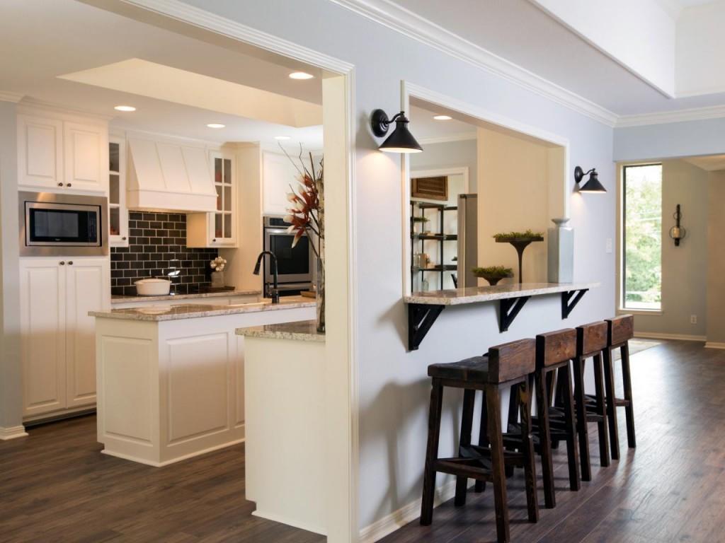 Cutout Kitchen Breakfast Bar