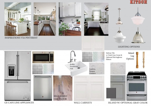 Whole House Remodel Kitchen Mood Board