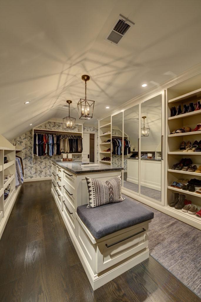 New Luxury Master Suite Closet Island & Bench