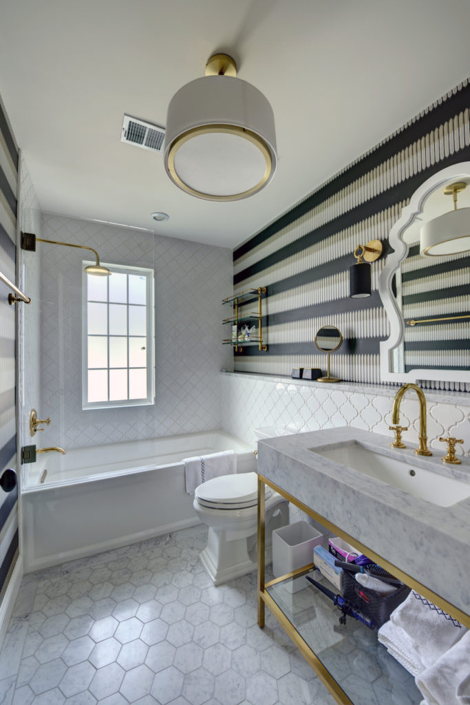 New Art Deco Hallway Bathroom Design