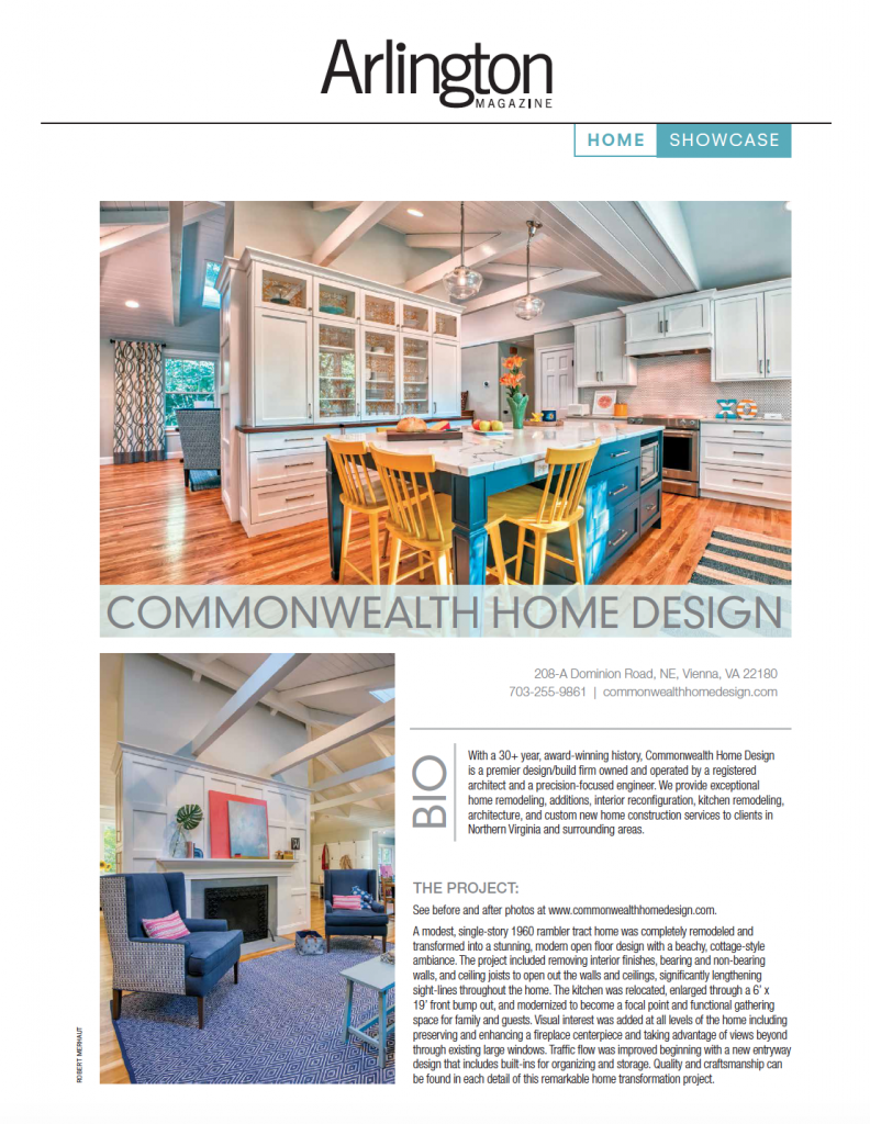 Whole House Remodel Featured in Arlington Magazine