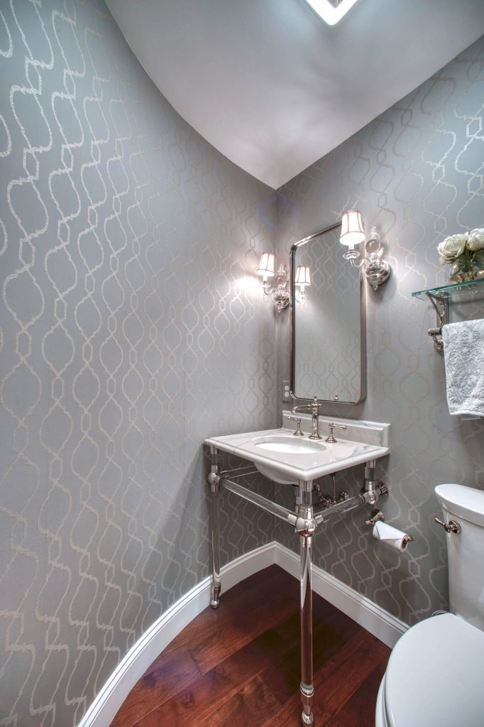 Curved Powder Room After Home Remodel Northern Virginia